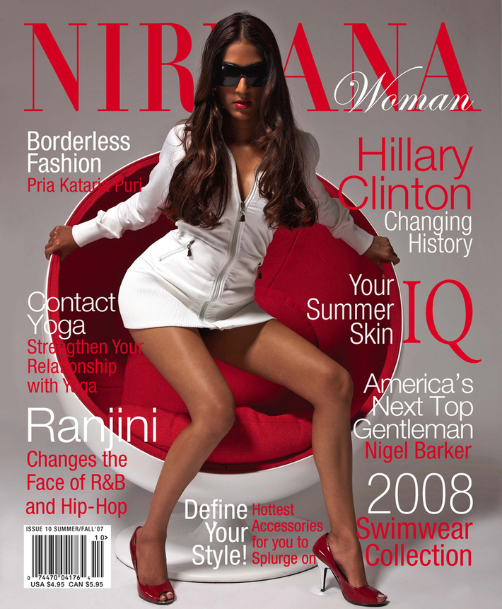 Ranjini on the Cover of Nirvana Woman