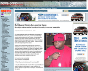 Dj Quest in the News paper