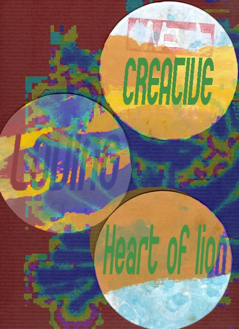 creative loving heart of lion
