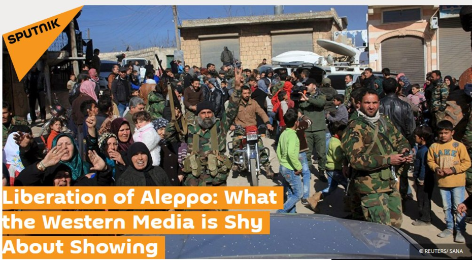 Aleppo is Liberated.