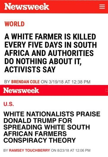 """News""week on Africa White Culling"
