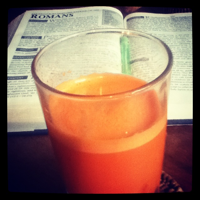 Romans and sweet carrot juice