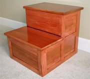 Faux Cherry Step Stool