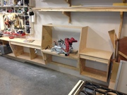 New miter saw station in the stowed position.