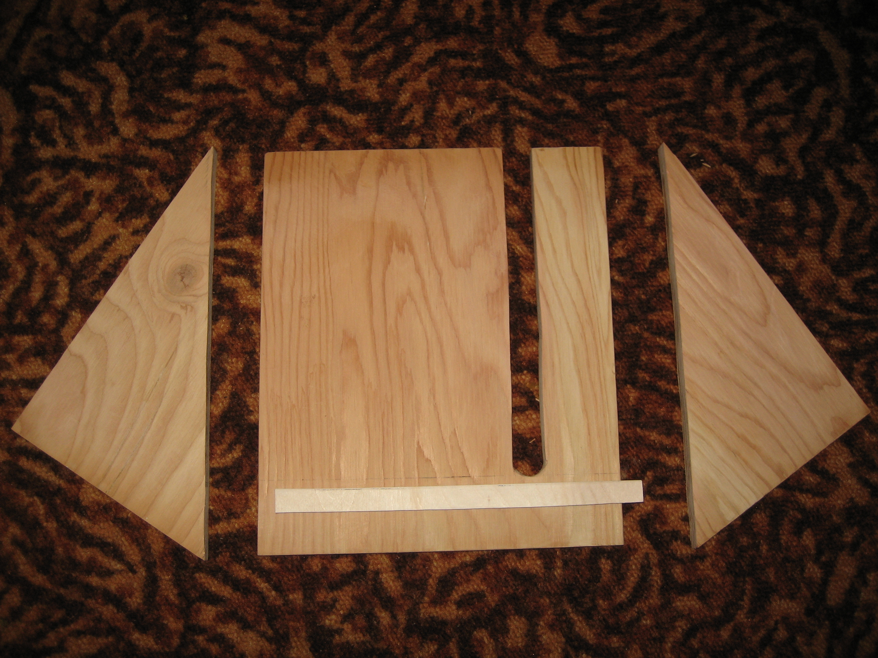 All plywood parts.