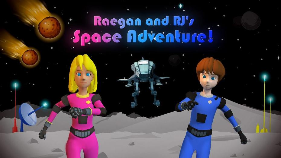 Raegan and RJs Space Adventure Game Cover
