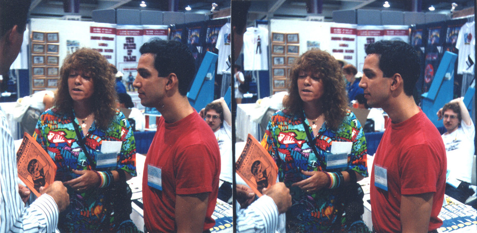 Mary Fleener and Peter Kuper, San Diego Comics convention, early 1990's