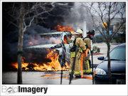 Car fire at whataburger