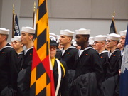 Sailor in formation during graduation, so Proud!