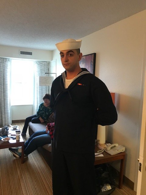 Peter in his dress blues after PIR 10/12/2018