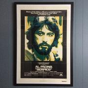 Framed Serpico Autographed Poster