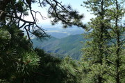 View from the top of Cheyenne Mountain
