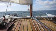 A view from the deck of a Tiki 31