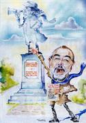 Caricatura di Guaraldi fatta da Giuma