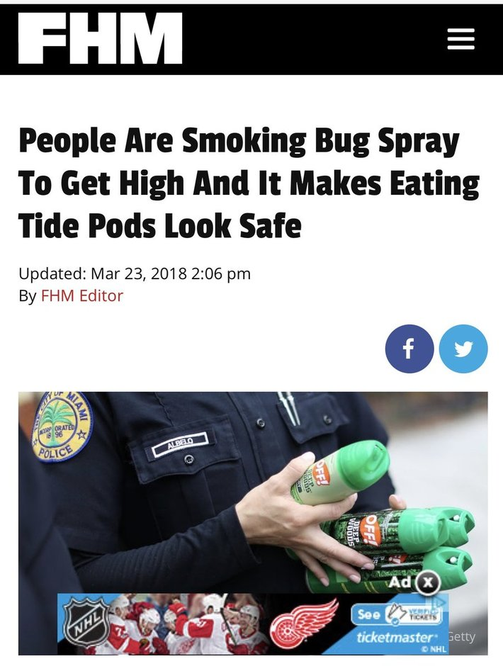BUG SPRAY AND TIDEPODS
