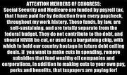 ATTENTION MEMBERS OF CONGRESS
