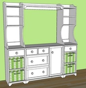 knock off wood madison changing table side hutch 11