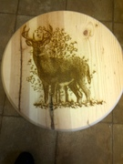 Small Side Table with Deer