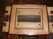 tiger maple purple heart  pic frame