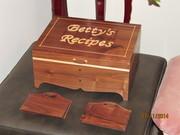 Walnut Recipe Box