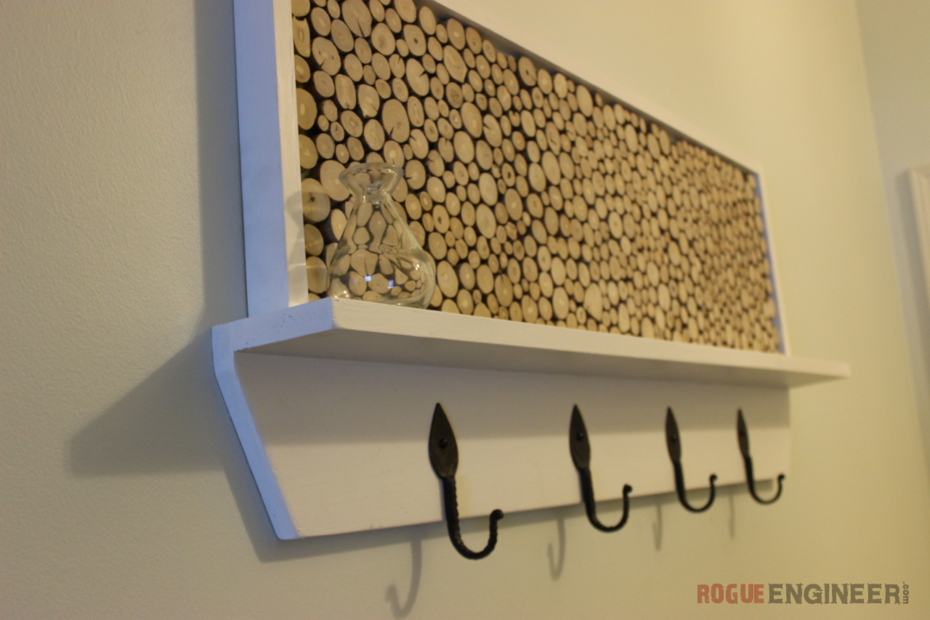 Tree Branch Coat Rack - Side View