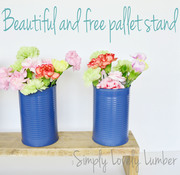 Quick and Free Pallet Centerpiece
