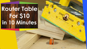 How to build a router table for Woodworking for under $10 with YouTube tutorial