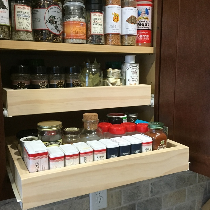 Pull-Out Spice Drawers