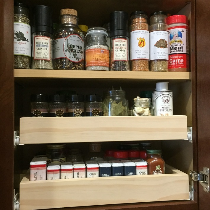 Pull Out Spice Drawers