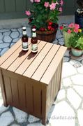 Outdoor Beverage Table with a Surprise!