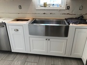 Inset white cabinets/Farm Sink