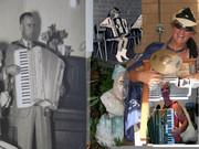 MY GRANDFATHER , ME AND EVEN MY GRANNIES GNOME PLAYING ACCORDION