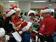 MECCA accordionist and band plays for senior citizen Christmas party