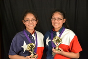 Samanatha & Sabrina 3rd place winners in duet category