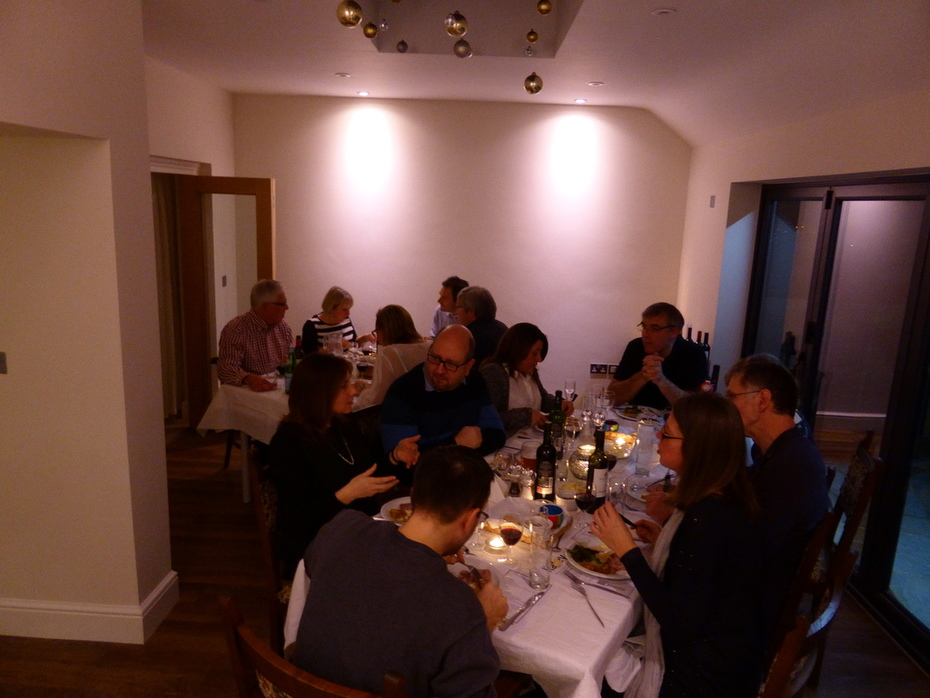 Dining room full and buzzing