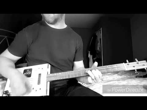 When The Lights Go Out - The Black Keys - Cigar Box Guitar & Vocal Cover