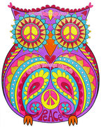 Peace Owl Art by Thaneeya McArdle