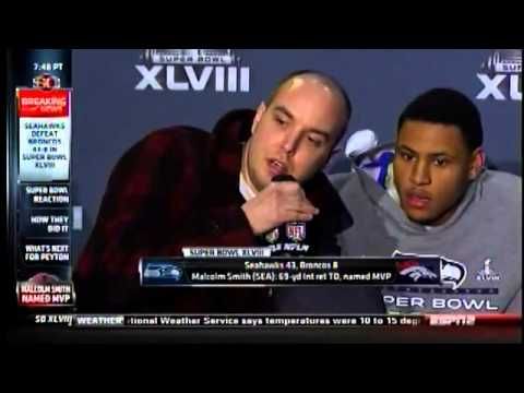 9/11 Truther interrupts Super Bowl MVP's Post Game Interview