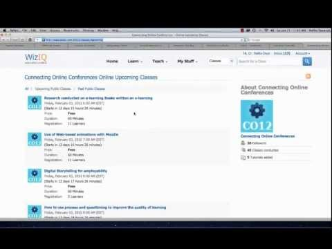 Connecting Online (CO12) Online Conference on WizIQ