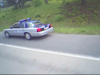 Car end up in the hill after SUV bump back of car.