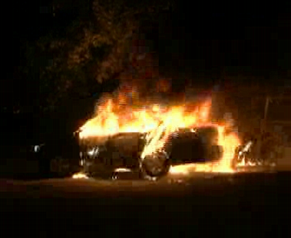 Detriot car fire