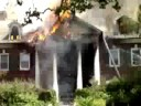 Jumpy video from an apartment house fire