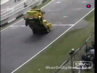 Truck Wheelie Crash