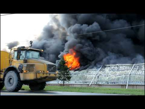 Massive Fire Engulfs Plainfield Township Industrial Building 2-8-11