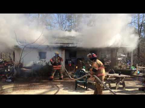 Youngsville Fire Department House Fire January 8, 2014