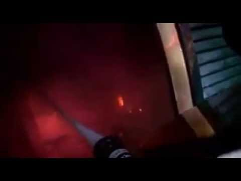 Must watch!! Great footage of a transitional attack on well involved structure fire!!!