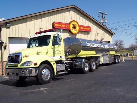 Magnolia, DE Fire Company Tanker 55 Responding