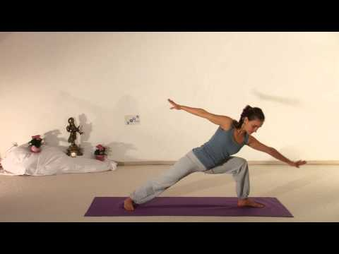 Twisting Vira Bhadrasana Yoga Posture 2 - silent movie