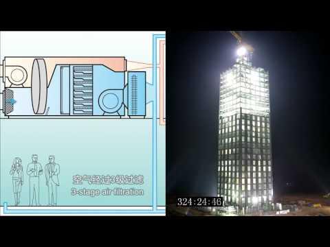 In China bouwen ze een wolkenkrabber in 360 uur.