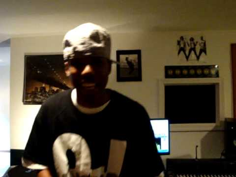 P. Hardy free-styling in the M Productions studio